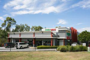 butcher shopfront and carpark